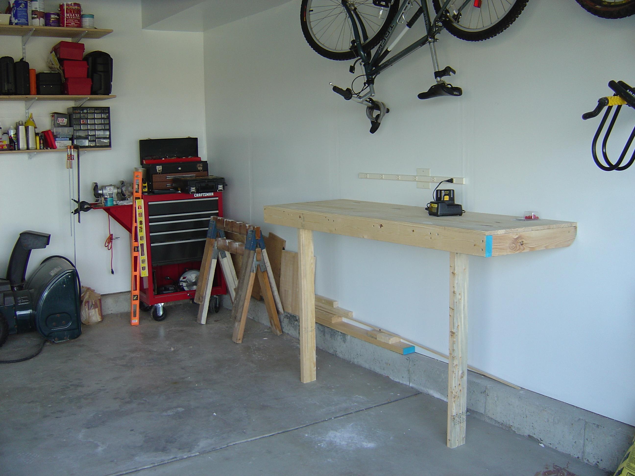 Compact Garage Workbench
