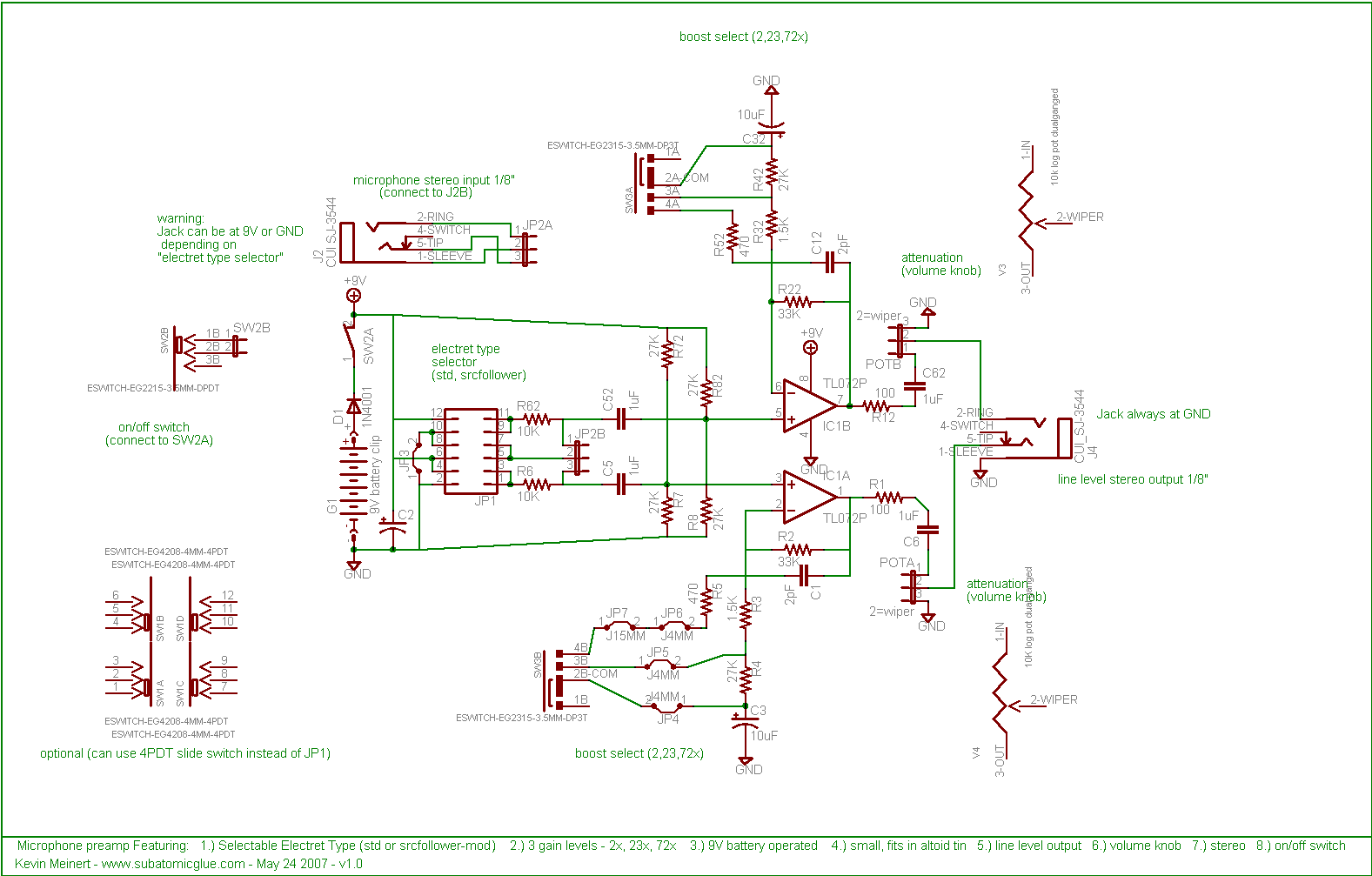 Subatomicglue Mintymic Work Log Re Need A Simple Low Power Preamp Circuit For Electret Microphone Schematic And Single Sided Pcb Layout 25 X 215 Inches 300dpi